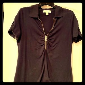 Navy Michael kors XL half zip top